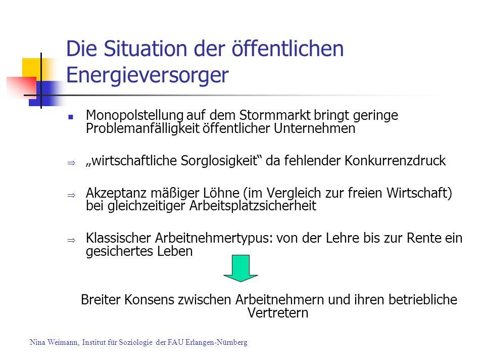 Die Situation der öffentlichen Energieversorger