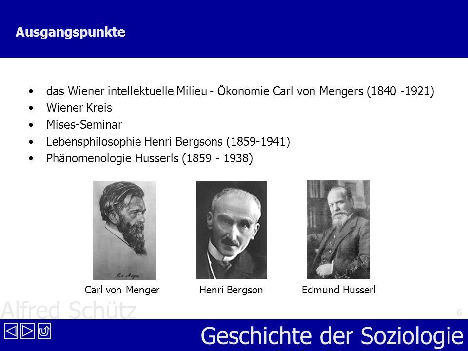 Ausgangspunkte das Wiener intellektuelle Milieu - Ökonomie Carl von Mengers (1840 -1921) Wiener Kreis.