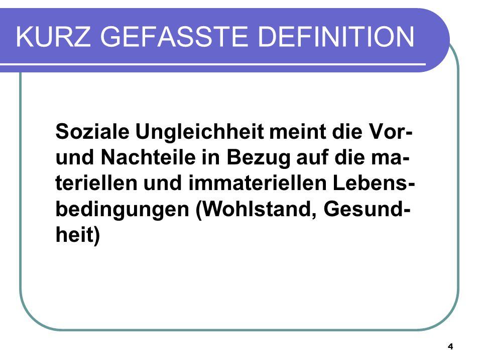KURZ GEFASSTE DEFINITION