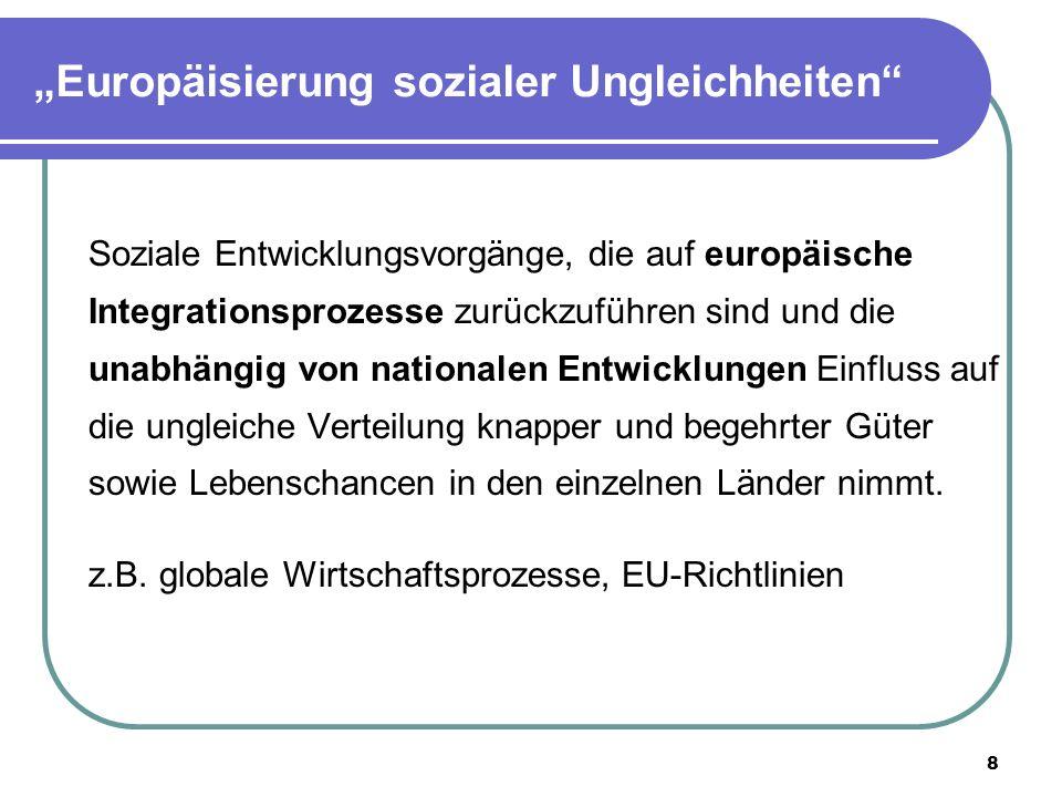 """""""Europäisierung sozialer Ungleichheiten"""