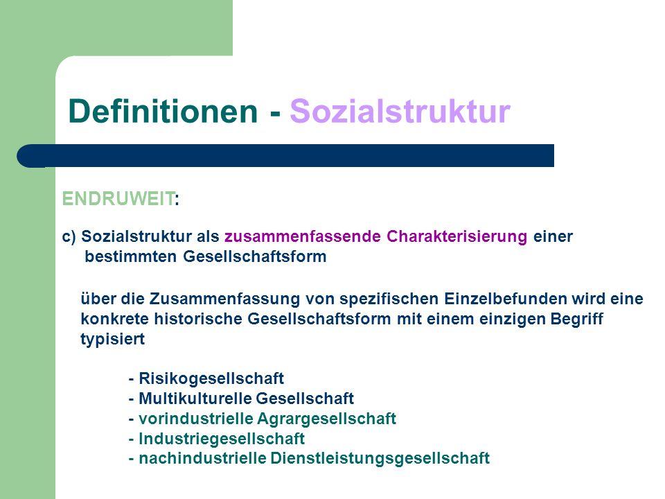 Definitionen - Sozialstruktur