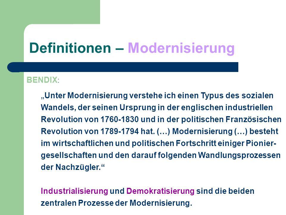 Definitionen – Modernisierung