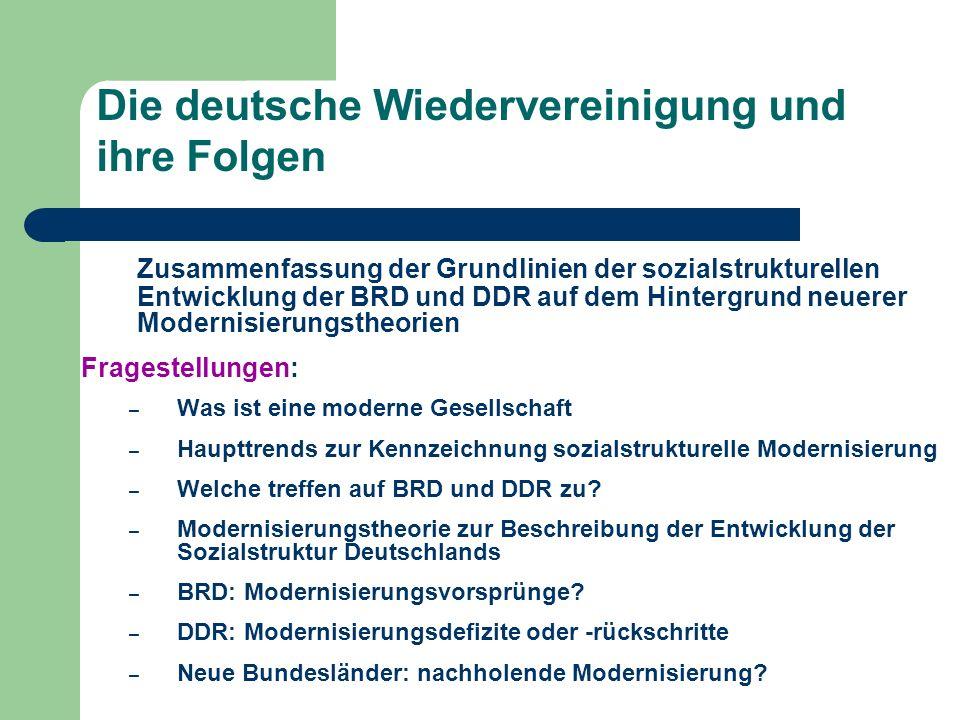 Die deutsche Wiedervereinigung und ihre Folgen