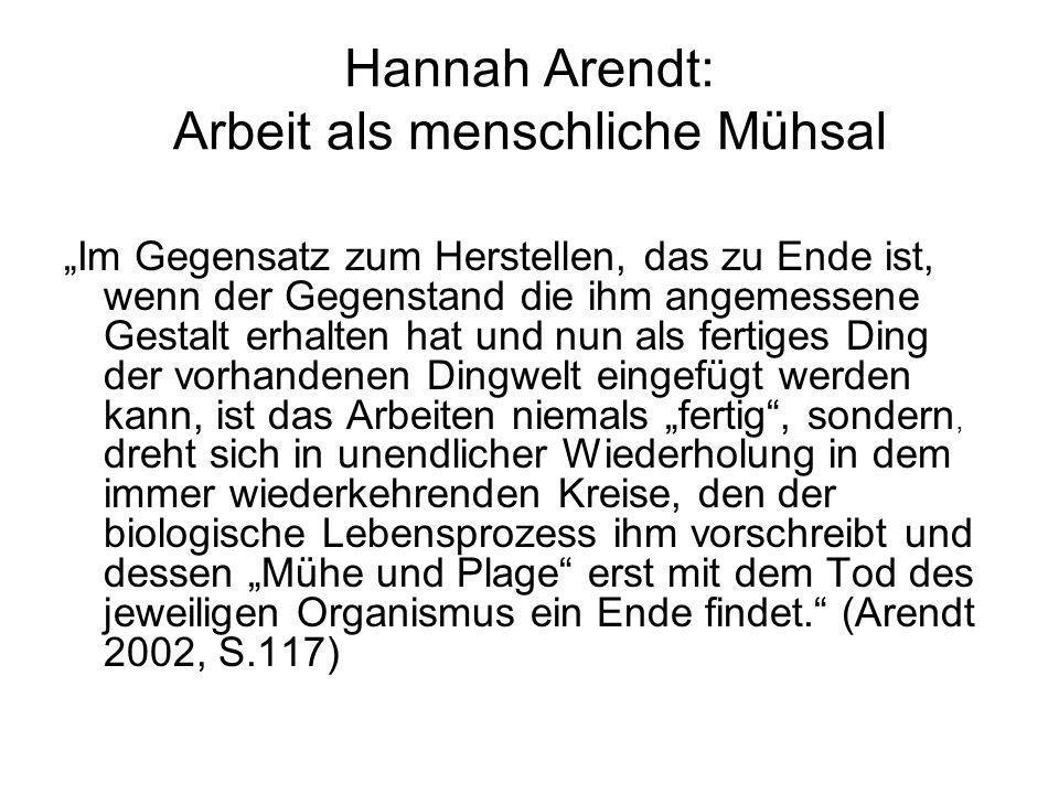 Hannah Arendt: Arbeit als menschliche Mühsal