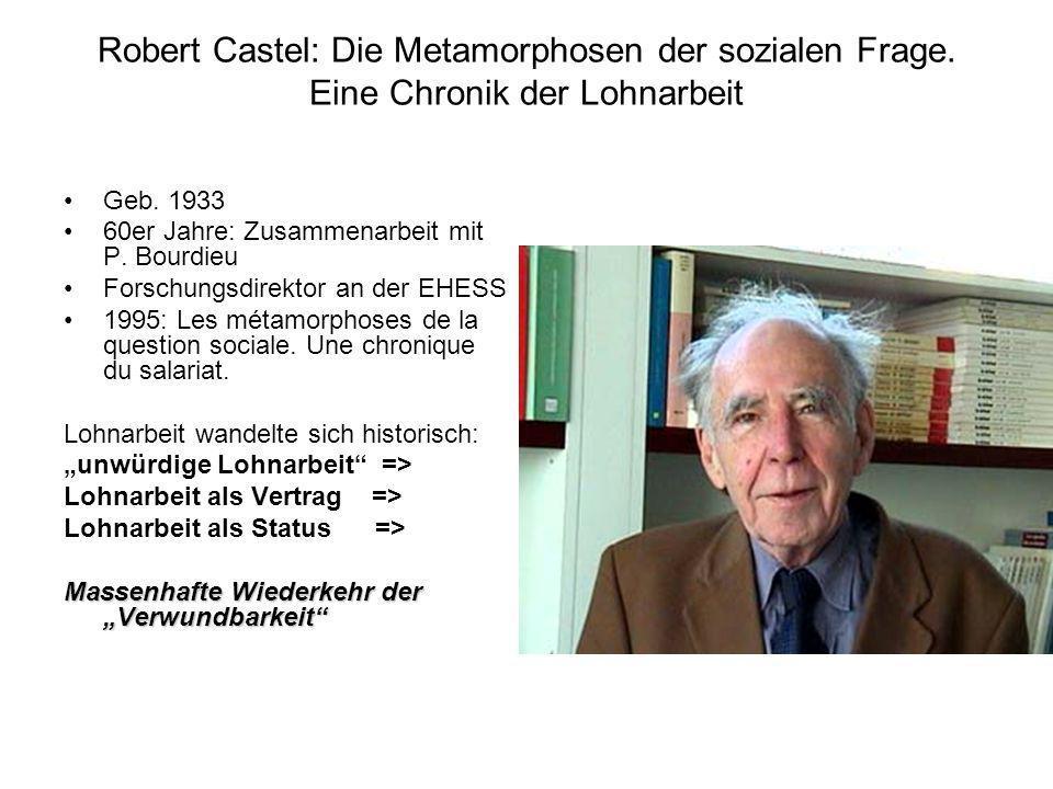 Robert Castel: Die Metamorphosen der sozialen Frage