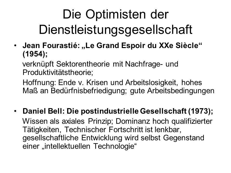 Die Optimisten der Dienstleistungsgesellschaft