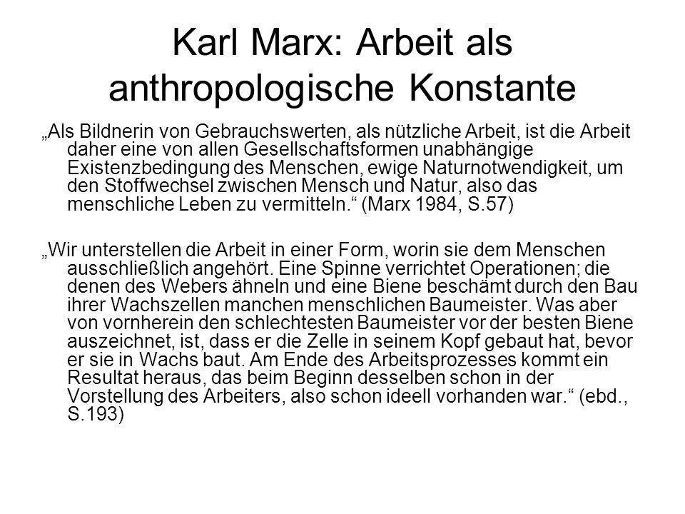 Karl Marx: Arbeit als anthropologische Konstante