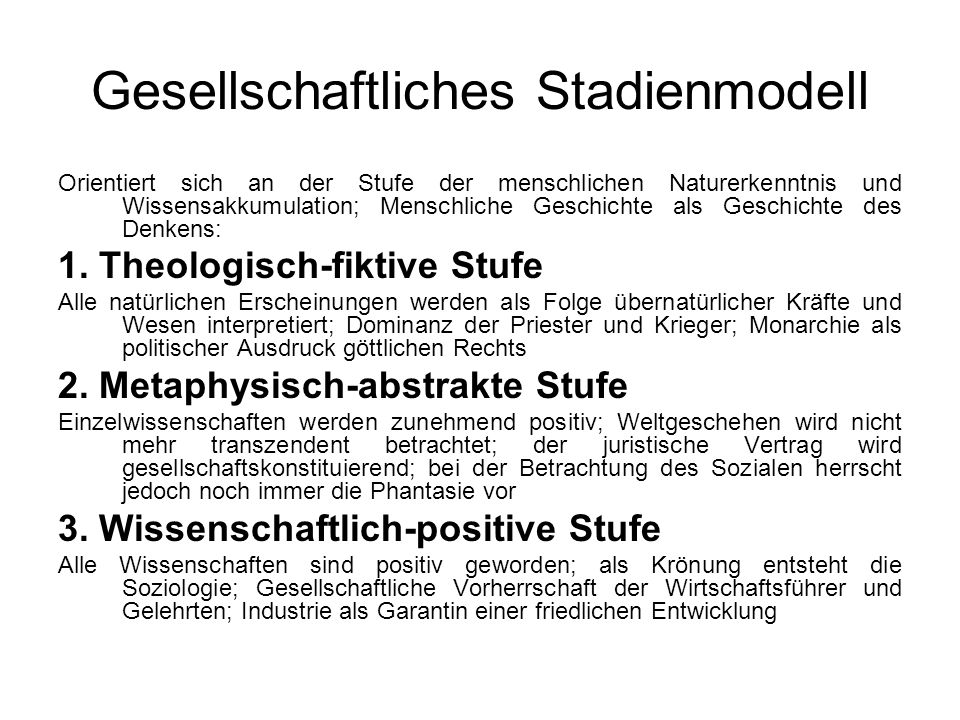 Gesellschaftliches Stadienmodell
