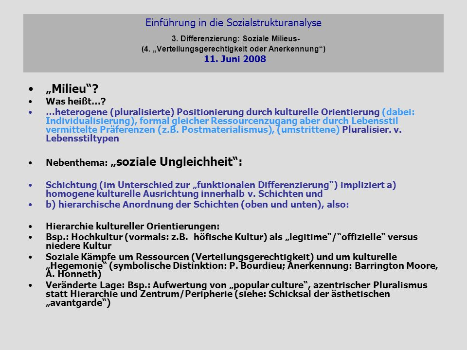 Einführung in die Sozialstrukturanalyse 3