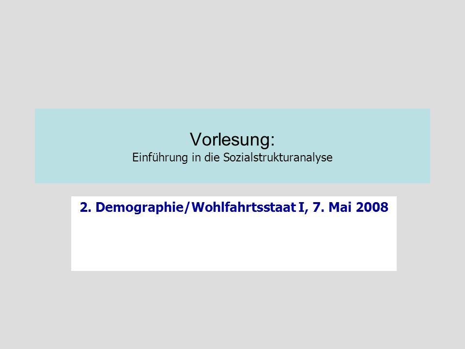Vorlesung: Einführung in die Sozialstrukturanalyse