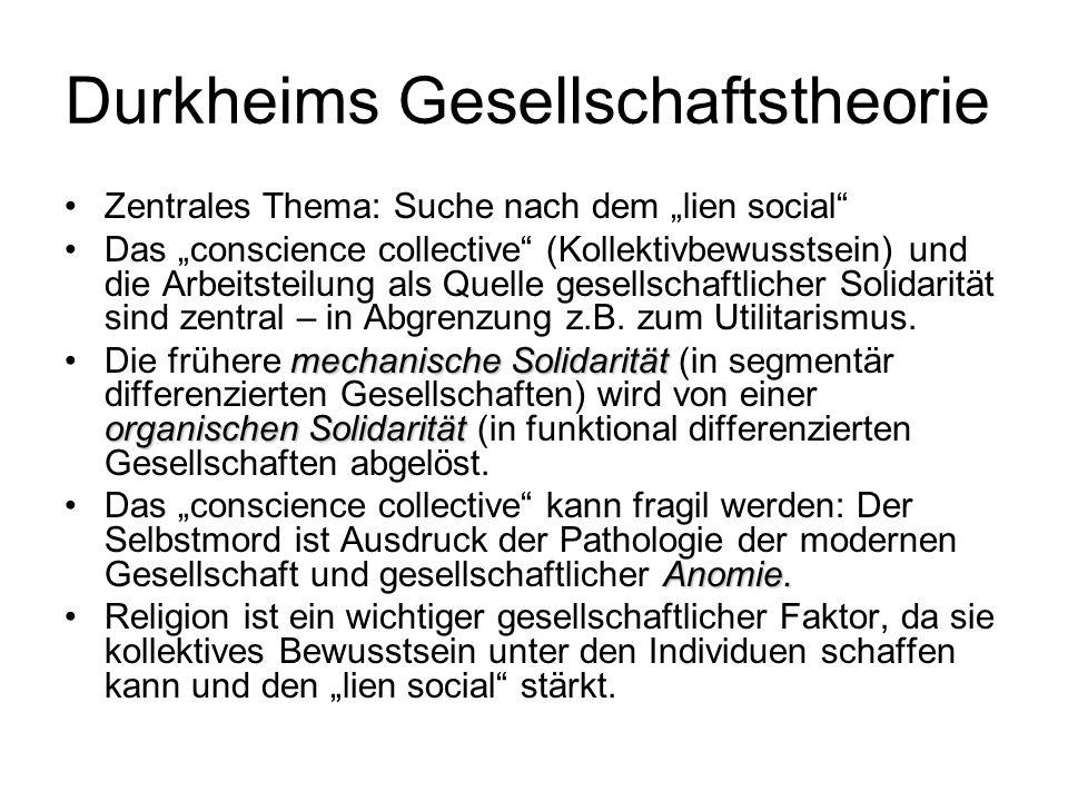Durkheims Gesellschaftstheorie