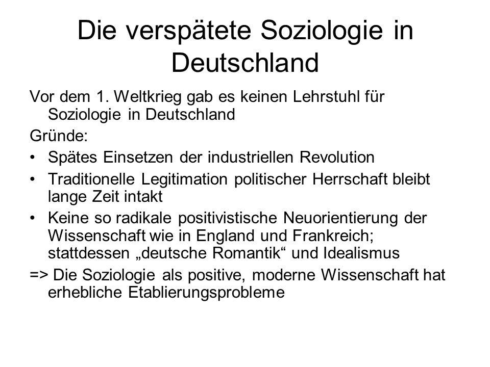 Die verspätete Soziologie in Deutschland