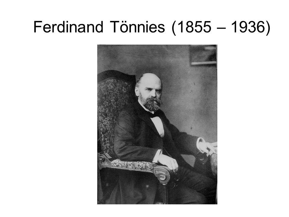 Ferdinand Tönnies (1855 – 1936)