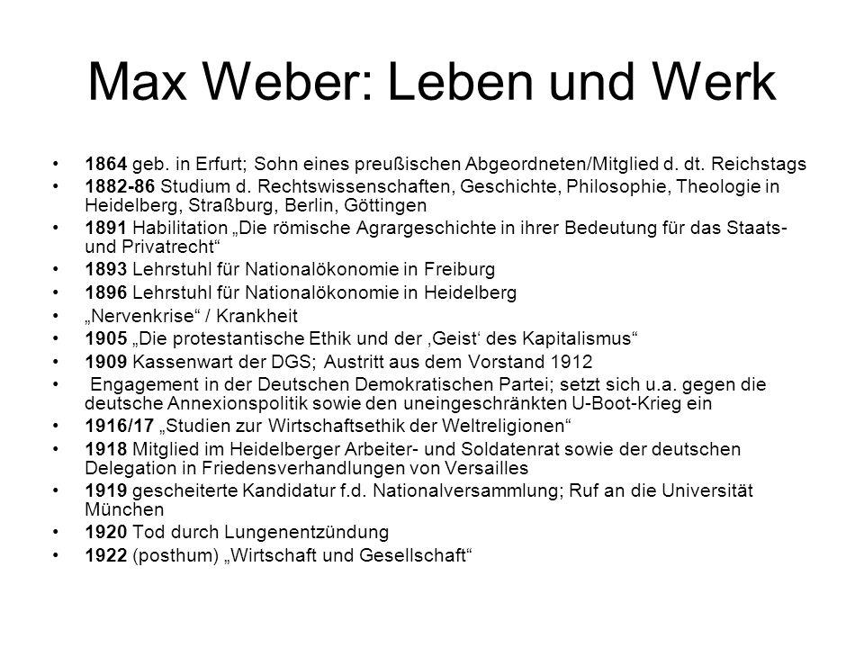 Max Weber: Leben und Werk