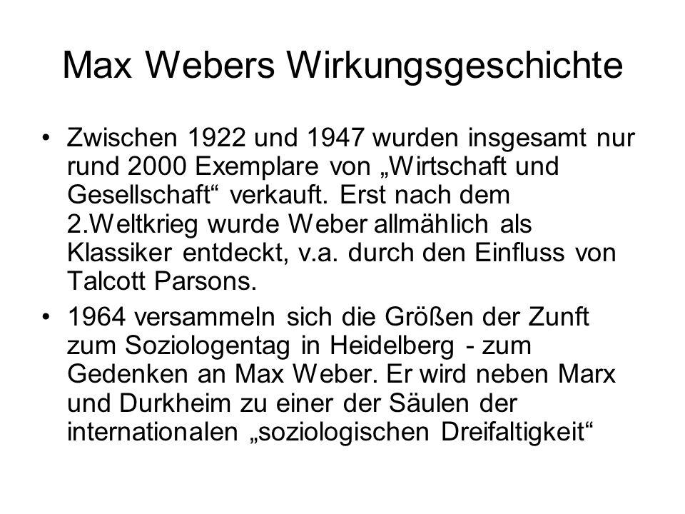 Max Webers Wirkungsgeschichte