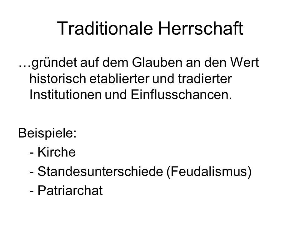 Traditionale Herrschaft