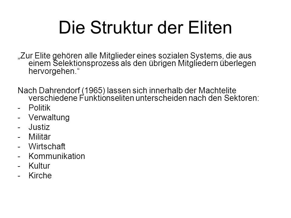 Die Struktur der Eliten