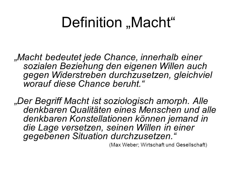 """Definition """"Macht"""