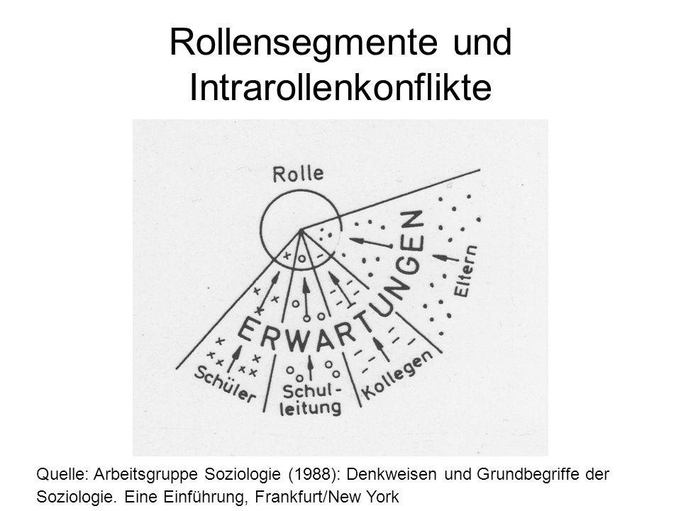 Rollensegmente und Intrarollenkonflikte