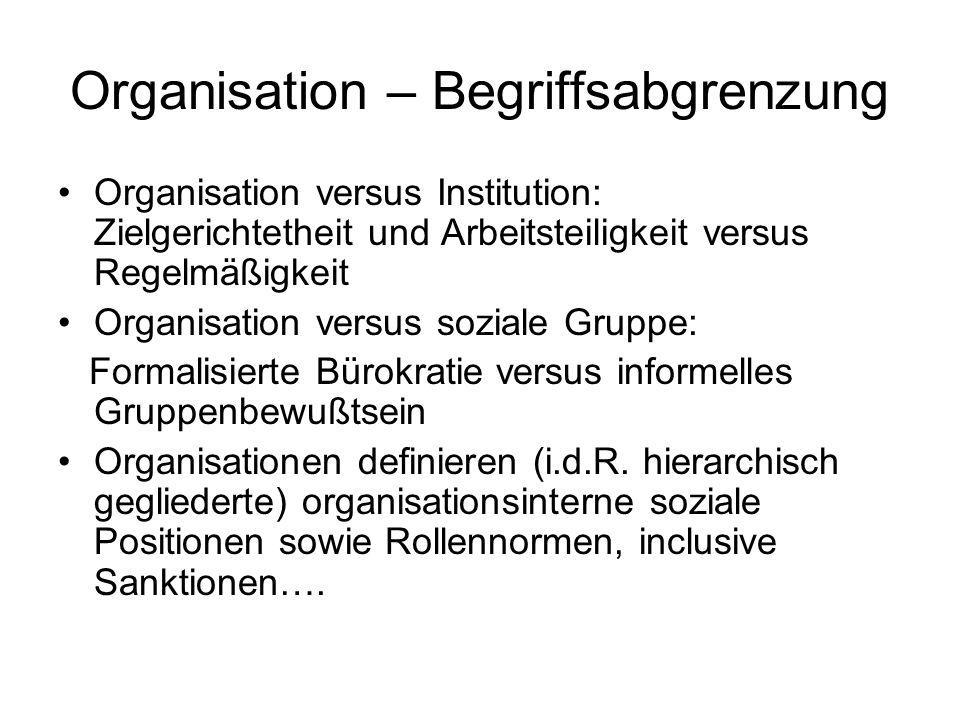 Organisation – Begriffsabgrenzung