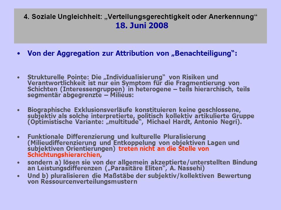 """Von der Aggregation zur Attribution von """"Benachteiligung :"""