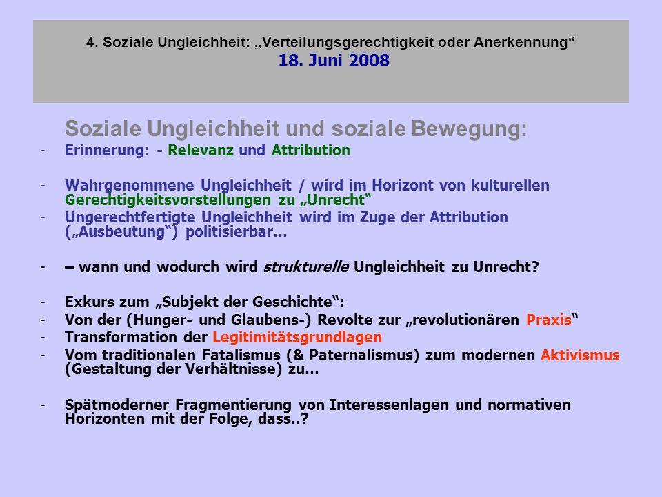Soziale Ungleichheit und soziale Bewegung: