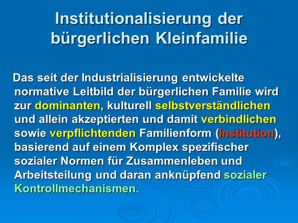 Institutionalisierung der bürgerlichen Kleinfamilie