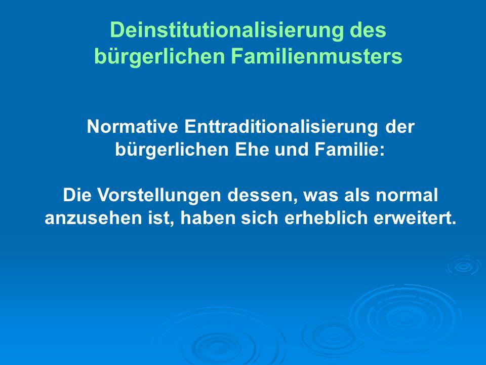 Normative Enttraditionalisierung der bürgerlichen Ehe und Familie: