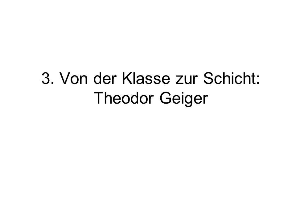 3. Von der Klasse zur Schicht: Theodor Geiger
