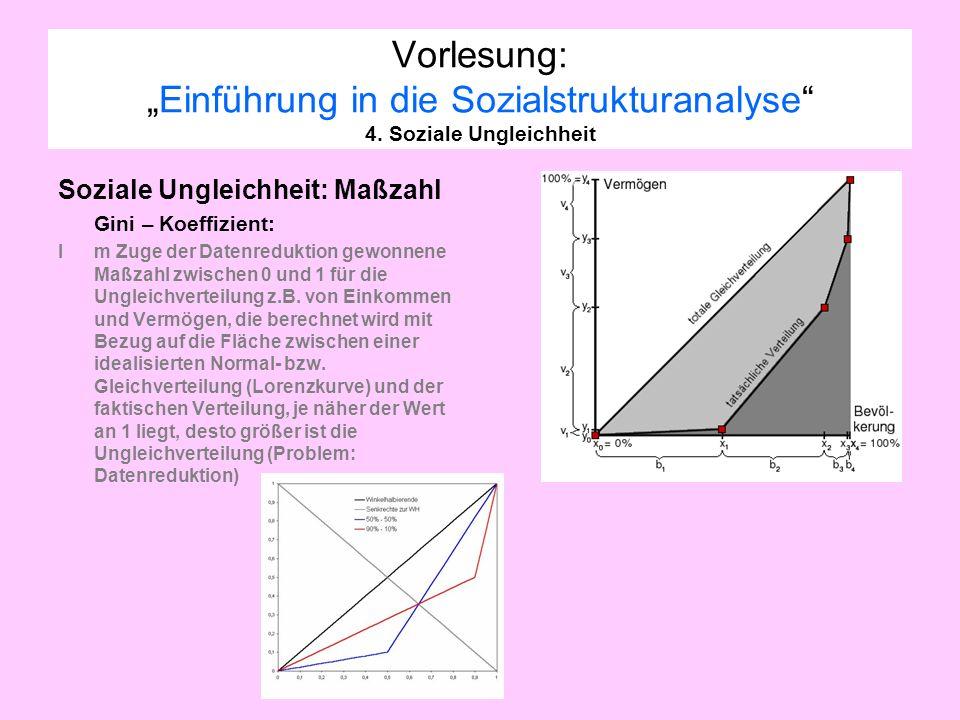 """Vorlesung: """"Einführung in die Sozialstrukturanalyse 4"""