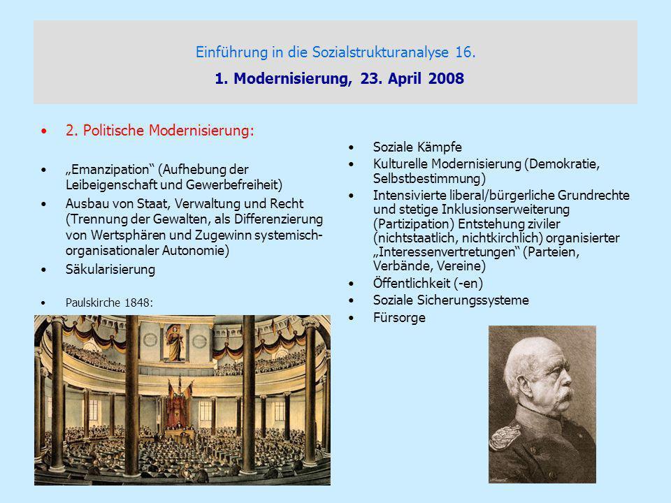 2. Politische Modernisierung: