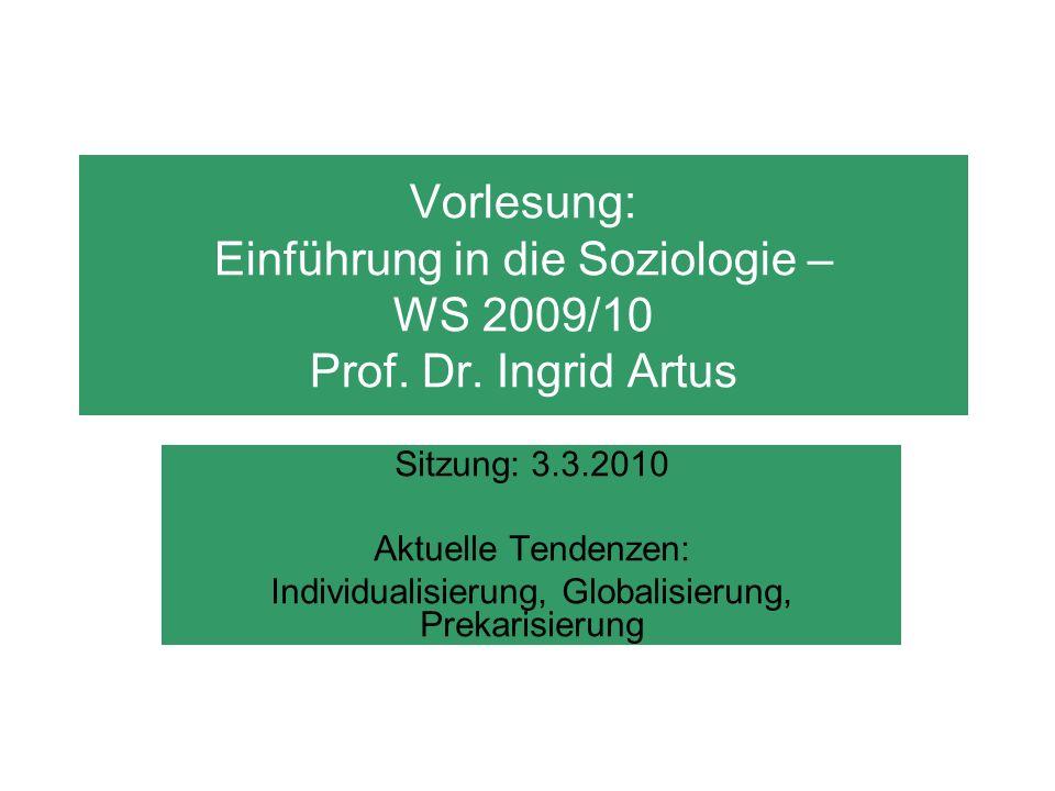 Individualisierung, Globalisierung, Prekarisierung