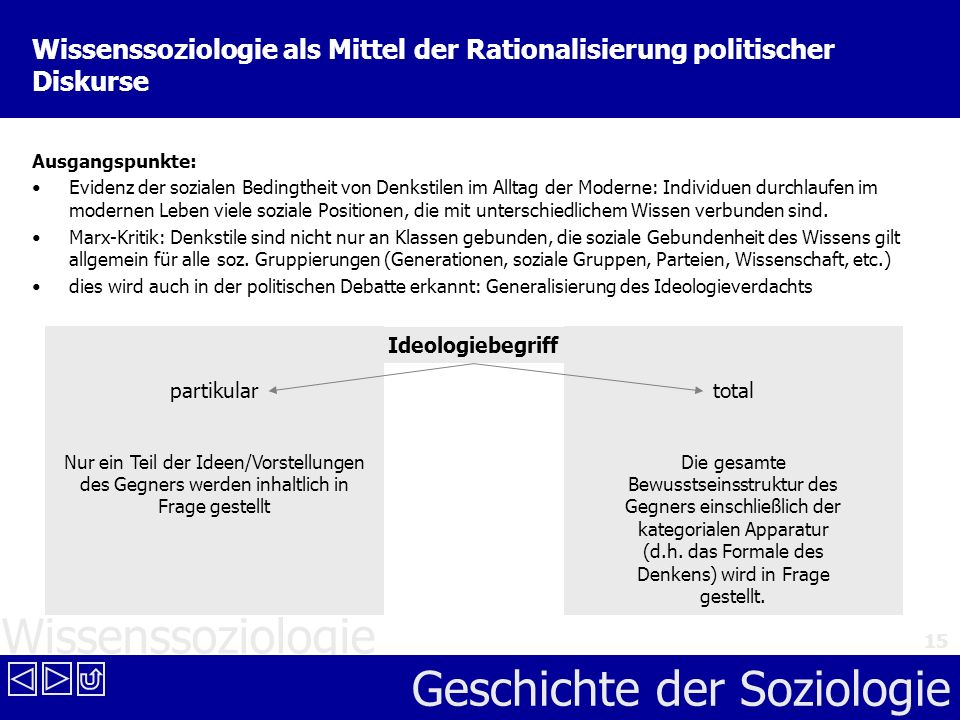 Wissenssoziologie als Mittel der Rationalisierung politischer Diskurse