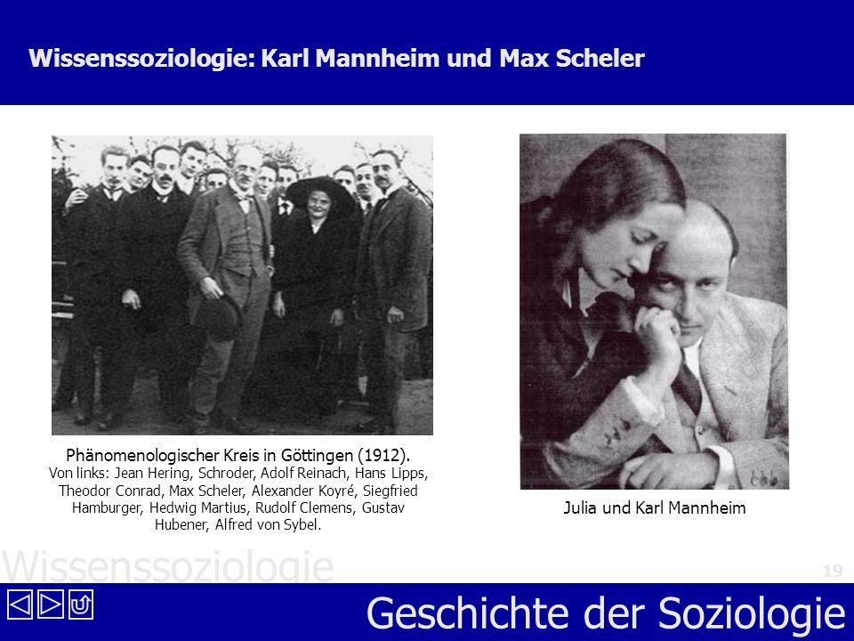 Wissenssoziologie: Karl Mannheim und Max Scheler