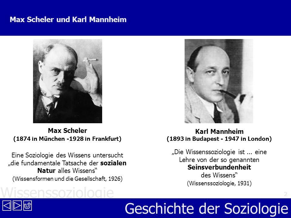 Max Scheler und Karl Mannheim
