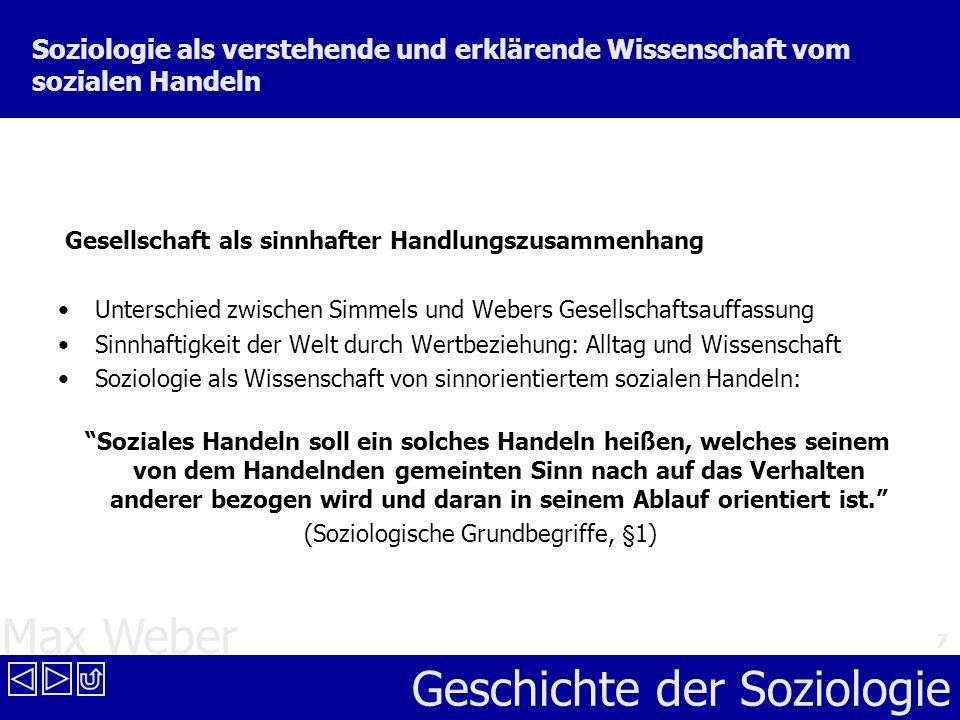 (Soziologische Grundbegriffe, §1)