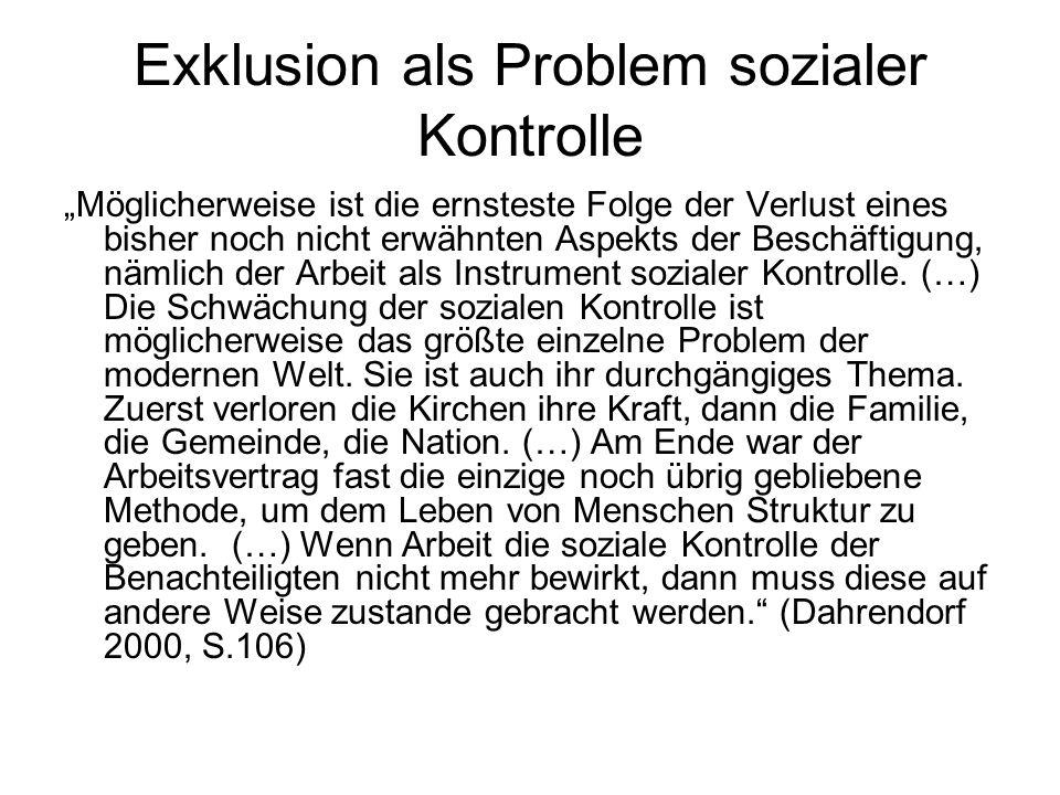 Exklusion als Problem sozialer Kontrolle