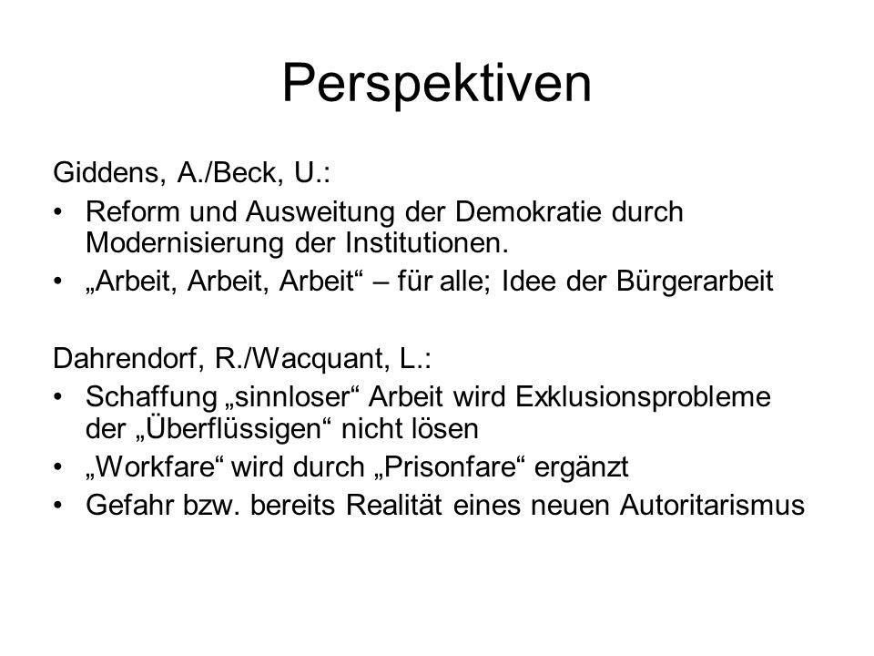 Perspektiven Giddens, A./Beck, U.: