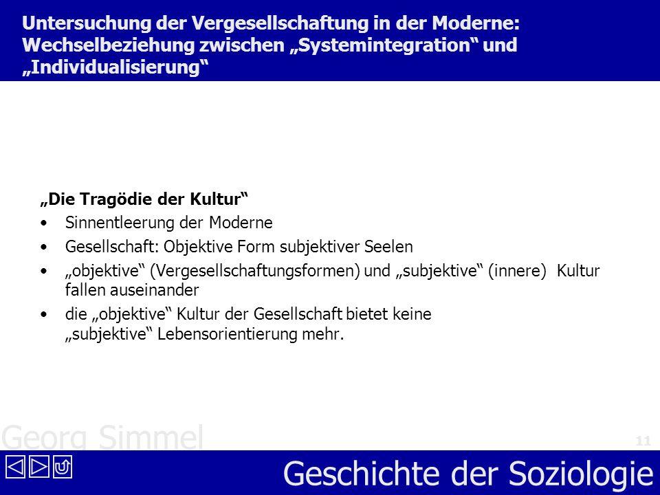 """Untersuchung der Vergesellschaftung in der Moderne: Wechselbeziehung zwischen """"Systemintegration und """"Individualisierung"""