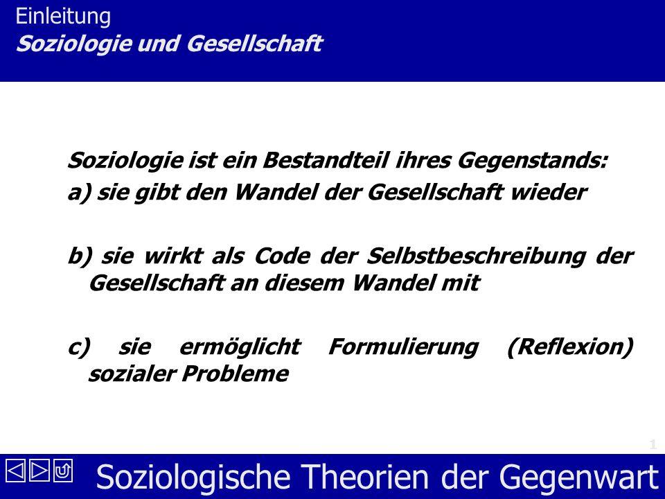 Einleitung Soziologie und Gesellschaft