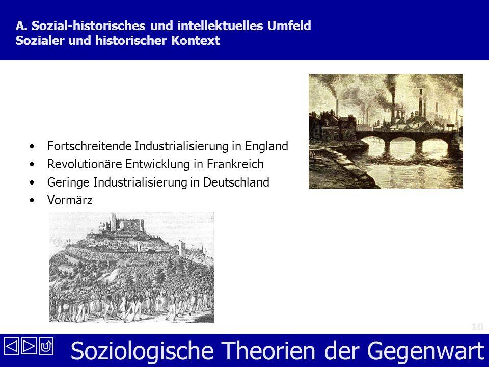 A. Sozial-historisches und intellektuelles Umfeld Sozialer und historischer Kontext