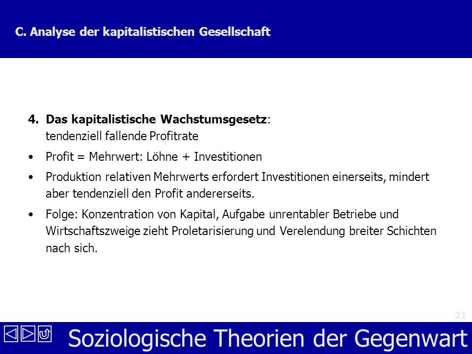 C. Analyse der kapitalistischen Gesellschaft
