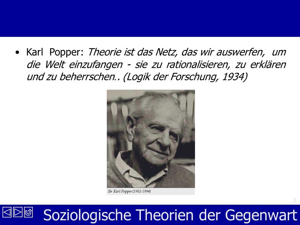 Karl Popper: Theorie ist das Netz, das wir auswerfen, um die Welt einzufangen - sie zu rationalisieren, zu erklären und zu beherrschen..