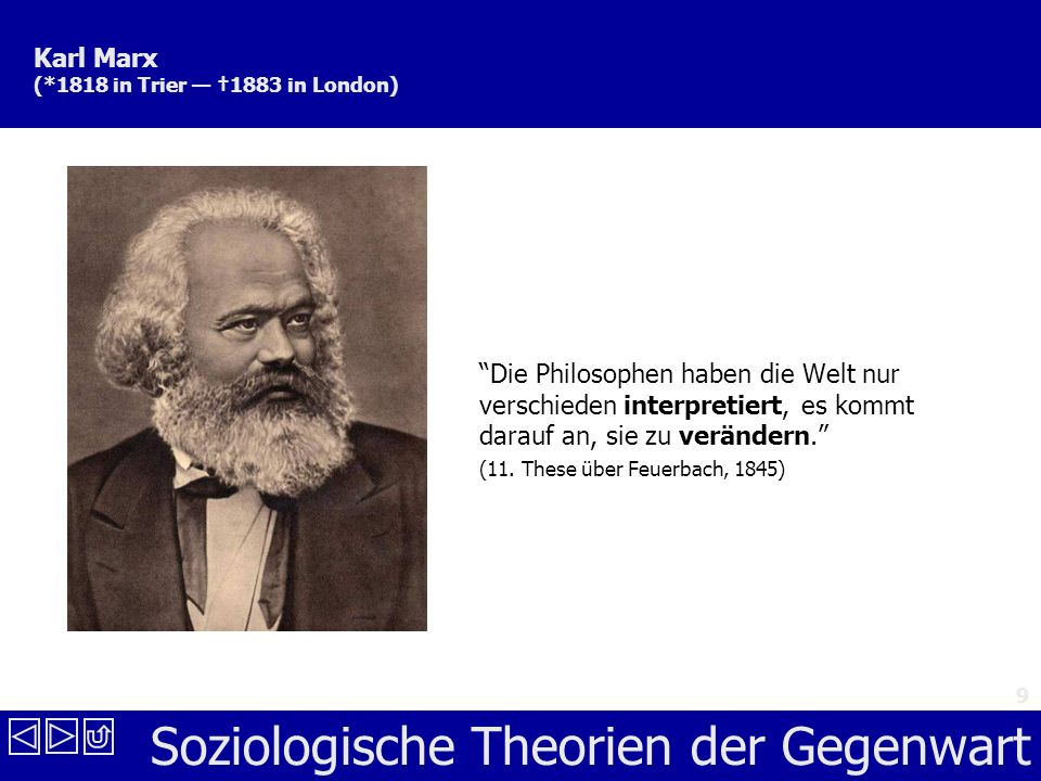 Karl Marx (*1818 in Trier — †1883 in London)