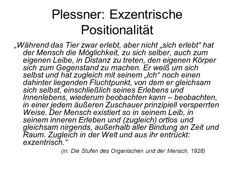 Plessner: Exzentrische Positionalität