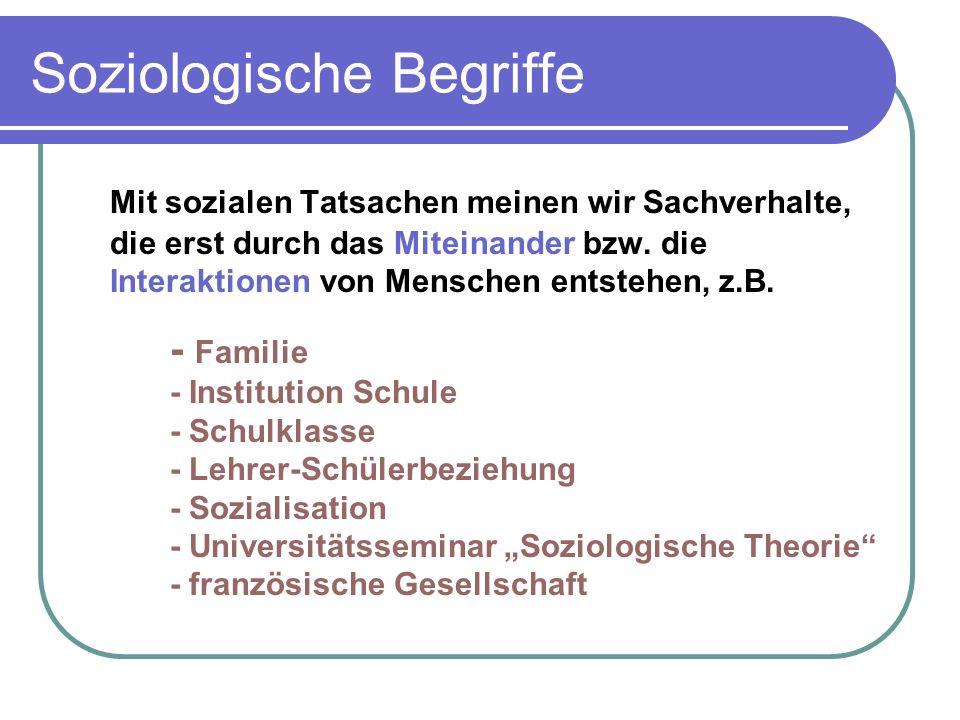 Soziologische Begriffe