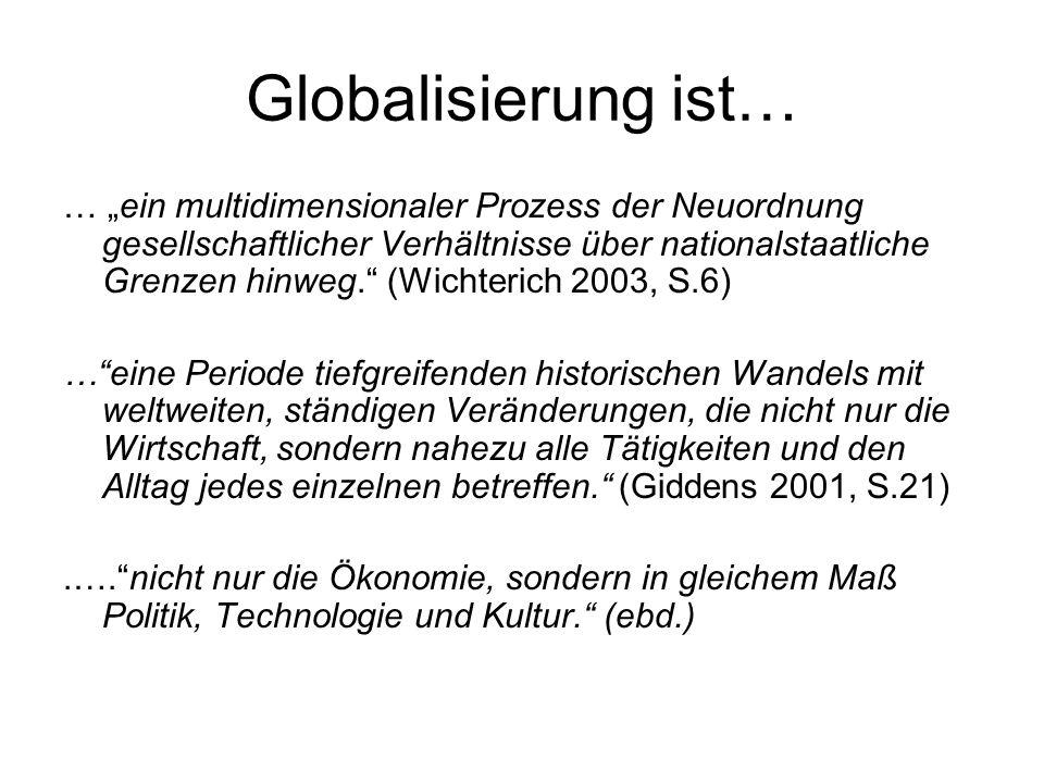 Globalisierung ist…