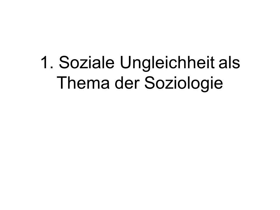 1. Soziale Ungleichheit als Thema der Soziologie