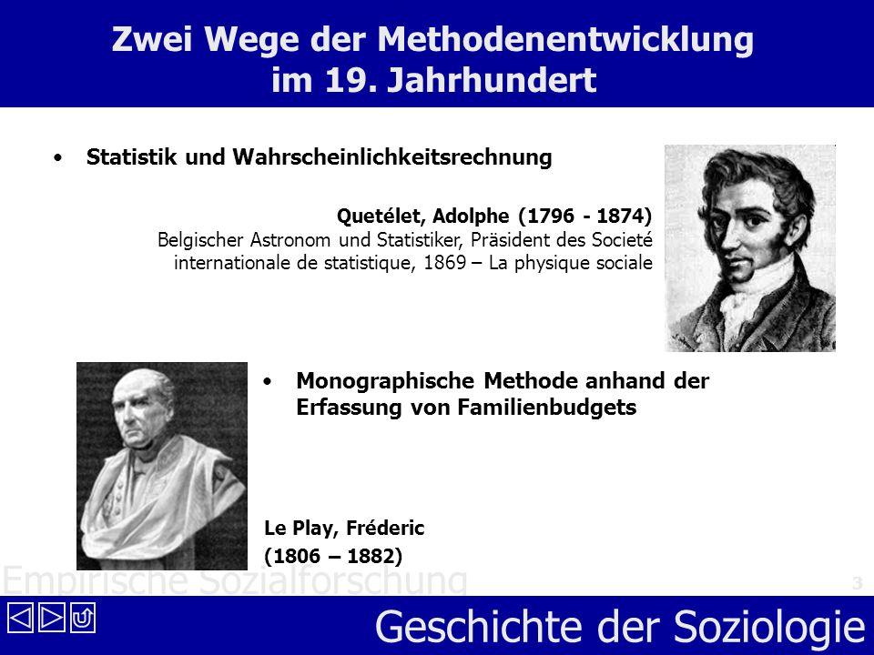 Zwei Wege der Methodenentwicklung im 19. Jahrhundert