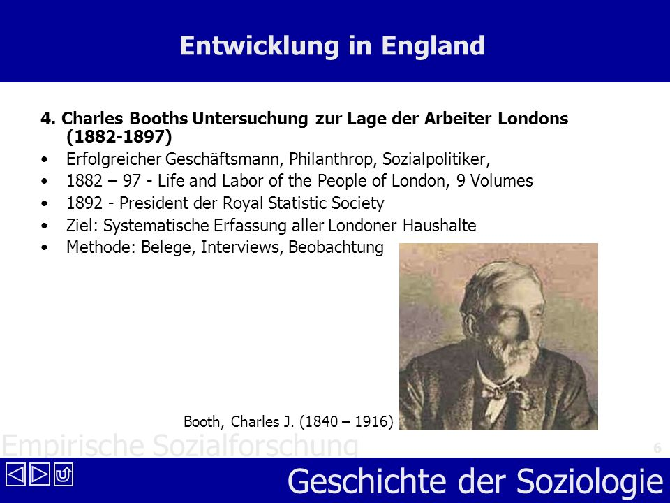 Entwicklung in England